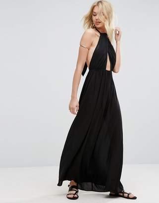 ASOS Maxi Beach Dress with Twist Neck Detail $43 thestylecure.com