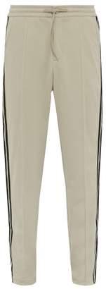 Y-3 Y 3 Three Stripe Technical Jersey Track Pants - Mens - Cream