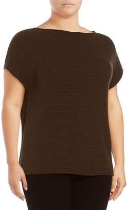 Lafayette 148 New York Plus Popcorn Stitch Cashmere Sweater
