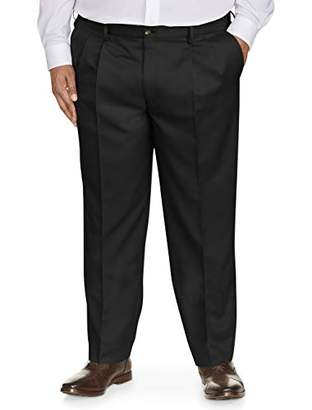 Amazon Essentials Men's Big & Tall Classic-Fit Wrinkle-Resistant Pleated Dress Pant
