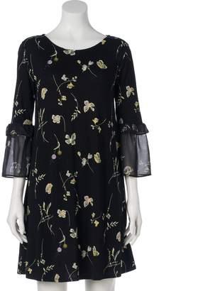 Lauren Conrad Women's Bell Sleeve Swing Dress