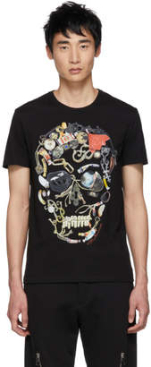 Alexander McQueen Black Mix Graphic T-Shirt