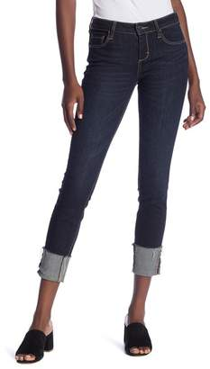 Hidden Jeans Rolled Cuff Skinny Jeans