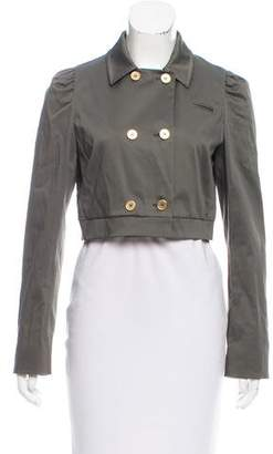 Miu Miu Cropped Double-Breasted Jacket