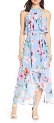 Eliza J Halter High/Low Midi Dress