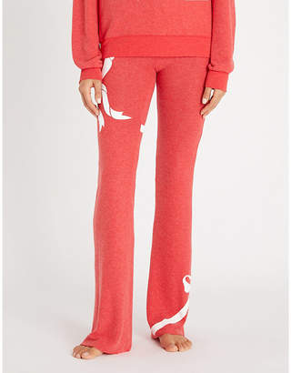 Wildfox Couture Gift Wrapped cotton-jersey jogging bottoms
