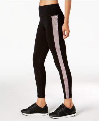 Calvin Klein Velour-Inset High-Waist Leggings