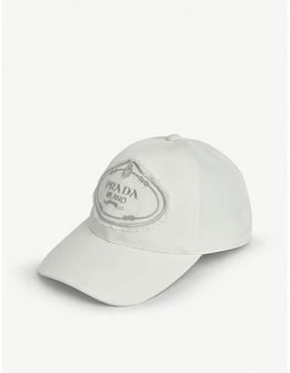 Prada Logo nylon baseball cap