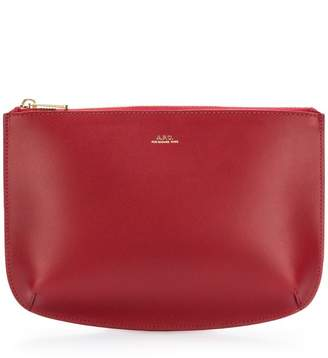 A.P.C. calf leather clutch