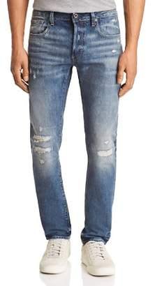 G Star 3301-b Slim Fit Jeans in Medium Aged Restored