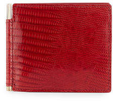 Tom Ford Lizard & Leather Bi-fold Wallet W/Money Clip