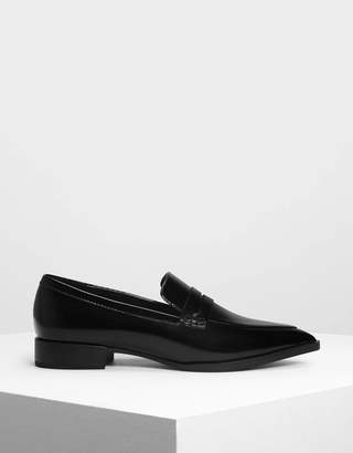 Charles & Keith Pointed Penny Loafers