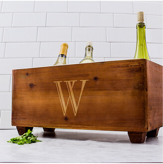 Cathy's Concepts Cathys Concepts Personalized Wooden Wine Trough