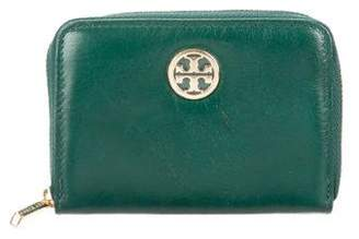 Tory Burch Leather Zip Cardholder