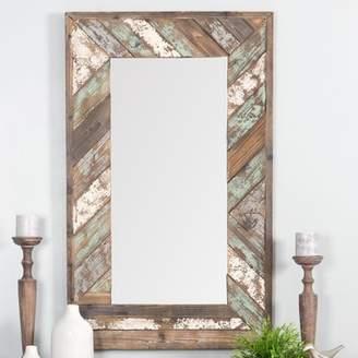 Rosecliff Heights Yorktown Distressed Wood Slat Wall Mirror