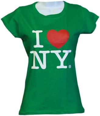 Factory NYC I Love NY New York Womens T-Shirt Spandex Tee Heart
