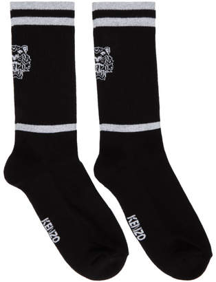 Kenzo Black Sporty Tiger Socks