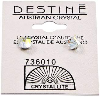 Crystallite Destine Aurora Borealis Cube Earrings