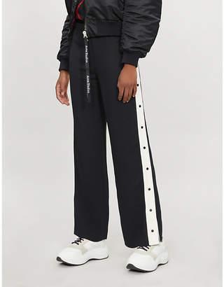 Karl Lagerfeld LARGERFELD Wide-leg logo stretch-jersey jogging bottoms