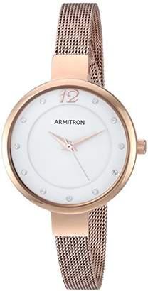 Swarovski Armitron Women's 75/5465WTRG Crystal Accented -Tone Mesh Bracelet Watch