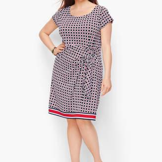 Talbots Ruched Jersey Sheath Dress