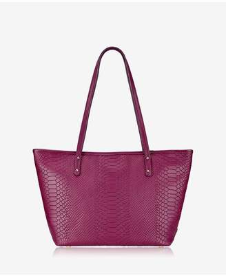 GiGi New York Zip Taylor Tote In Mulberry Embossed Python
