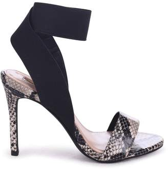 Linzi Crystal Natural Snake Stiletto Heel With Elasticated Upper