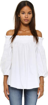 fa9b86eb5d2 Caroline Constas White Off Shoulder Women's Tops - ShopStyle