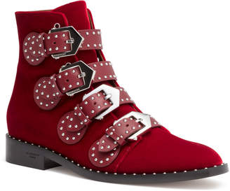 Givenchy Elegant Flat Dark Red Ankle Boot