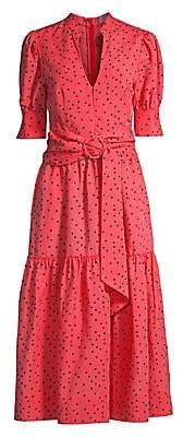 Rebecca Vallance Women's Holliday Polka Dot Midi Dress