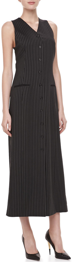 Michael Kors Morning Stripe Vest Dress