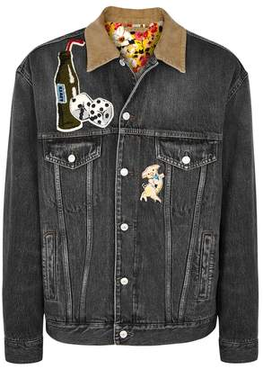 Gucci Grey Appliqued Denim Jacket