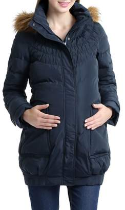 Kimi and Kai 'Arlo' Water Resistant Down Maternity Parka with Baby Carrier Cover Inset