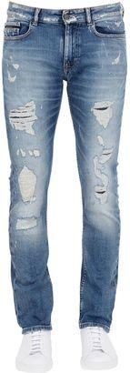17cm Slim Fit Distressed Denim Jeans $181 thestylecure.com