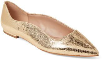 BCBGeneration Gold Nikita Pointed Toe Flats