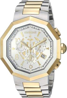 Roberto Cavalli by Franck Muller Men's Swiss Quartz Stainless Steel Casual Watch, Color Two Tone (Model: RV1G003M0096)