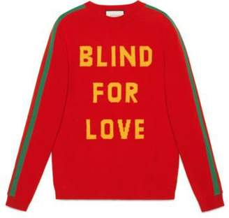 """Gucci """"Blind for Love"""" and bee wool sweater"""