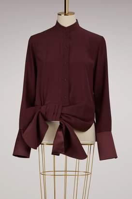 Victoria Beckham Victoria Silk asymmetrical shirt