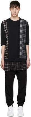 3.1 Phillip Lim Black Panelled Sweatshirt