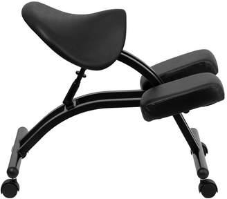 Symple Stuff Woodlake Height Adjustable Kneeling Chair with Dual Wheel