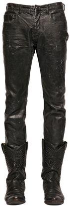 Waxed Cotton Denim Jeans $970 thestylecure.com