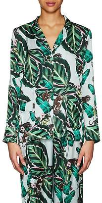 LoboRosa Women's Amazonia Leaf-Print Pajama Blouse