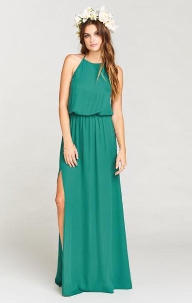 Heather Halter Dress ~ Hutch Green Crisp