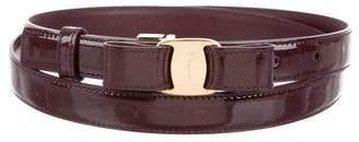 Salvatore Ferragamo Miss Vara Patent Leather Belt w/ Tags