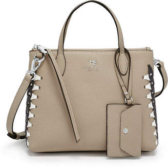 Henri Bendel Noho Laced Gusset Mini Zip Crossbody