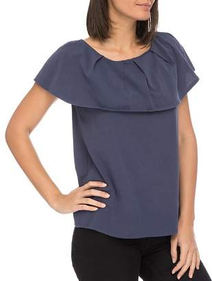 Bobeau B Collection by Marti Overlay Tee