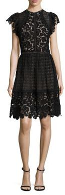 Rebecca Taylor Cotton Lace A-Line Dress $695 thestylecure.com