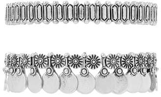 Forever 21 Medallion Stretch Bracelet Set