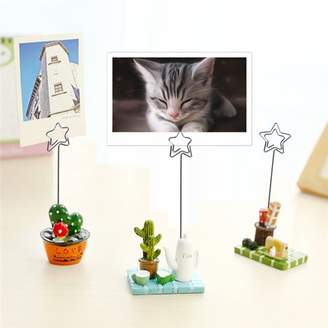Qiilu Creativity Clip Holders, Durable Metal Clamp for Photo Picture Note Cake Accessories Decor Cute Display Stand Clip, Applicable in Home Table, School, Goods Shelf, End Table, Shopping Mall, Office