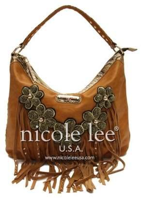 Nicole Lee Sutton Leather Fringe Hobo Bag